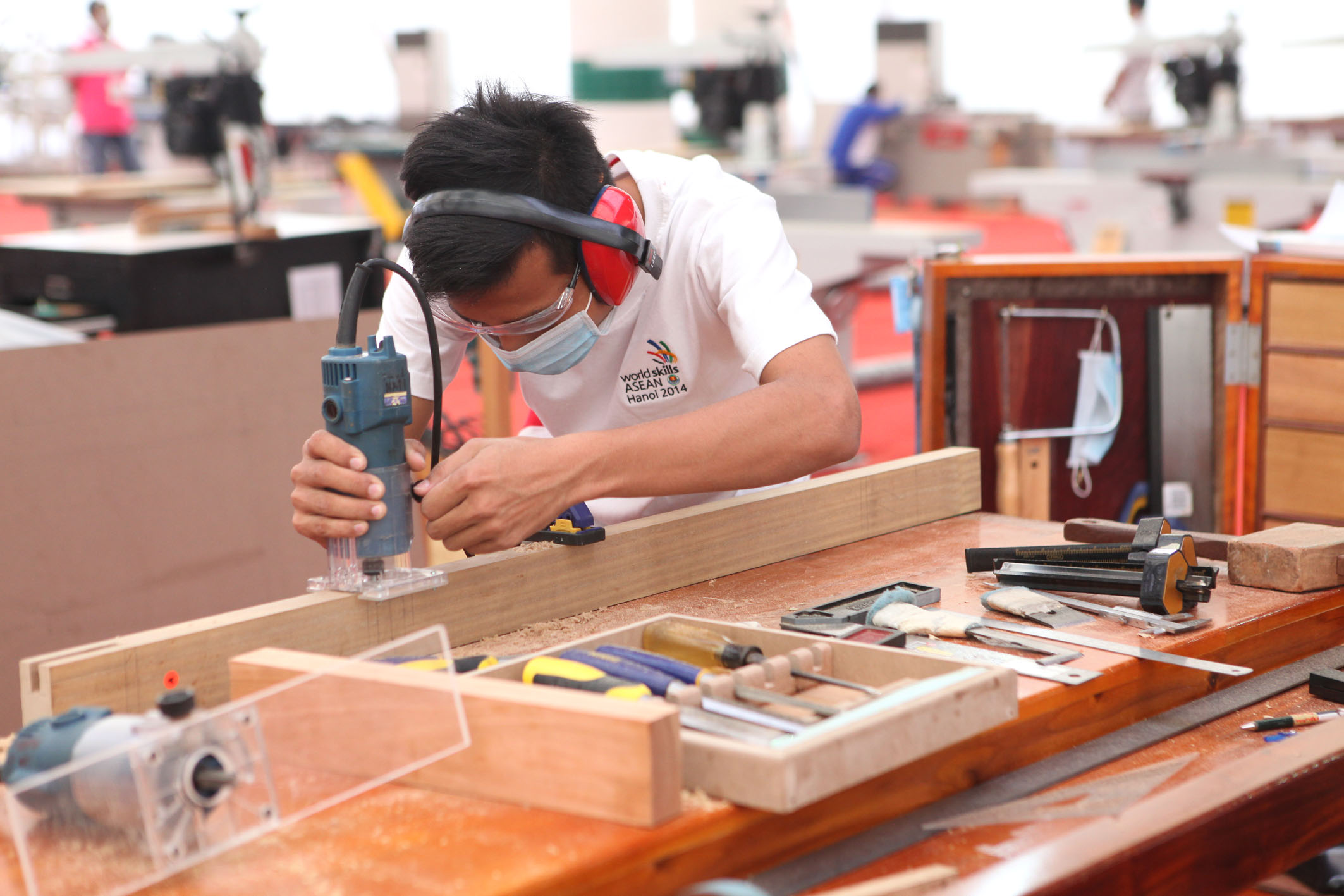 Contestants of Aesthetic and Civil Carpentry, Anh Tuan – Vietnam News Agency