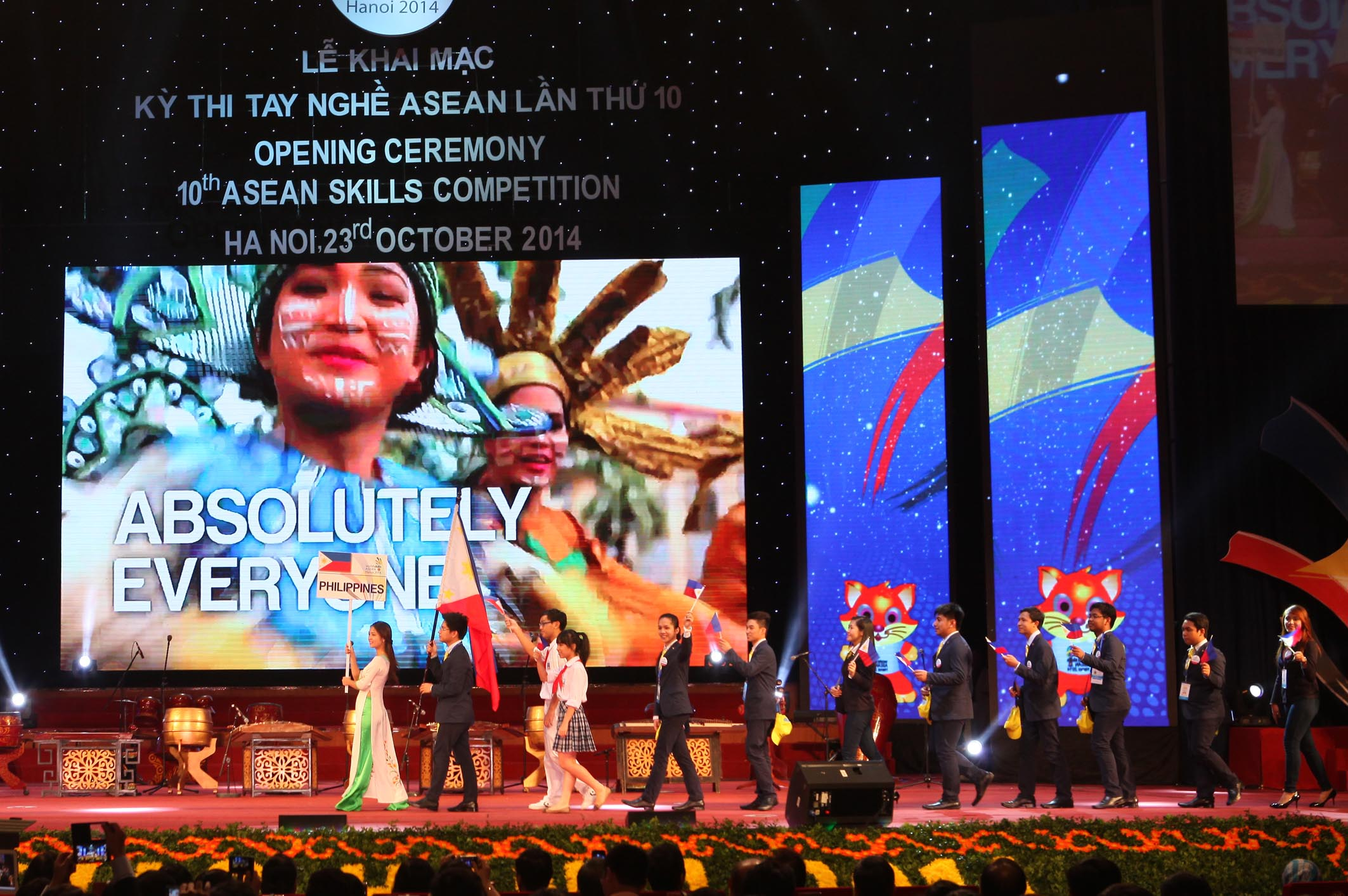 Philipines's delegation parades into stage