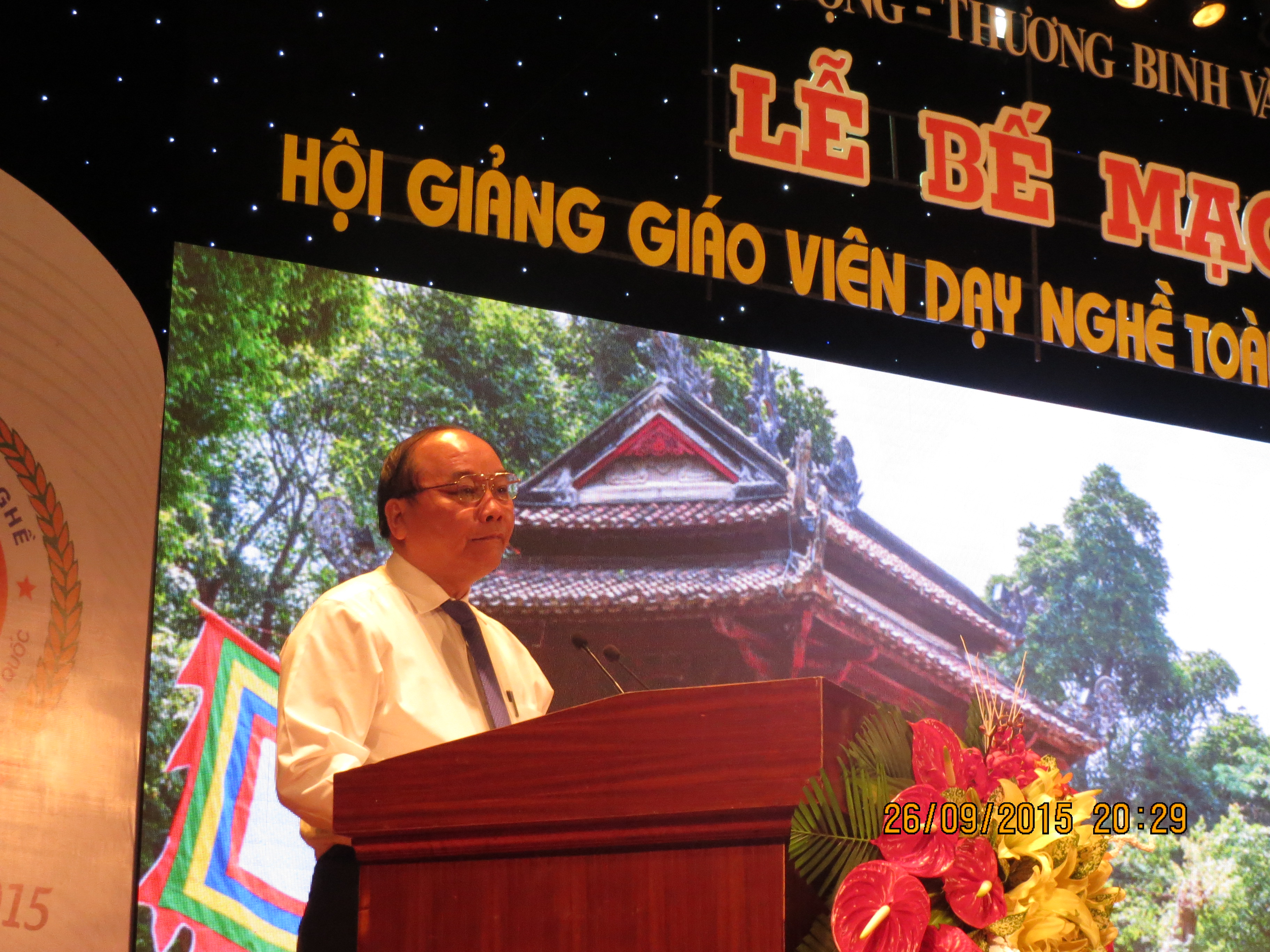 Member of Political Bureau, Deputy Prime Minister Nguyen Xuan Phuc delivers a speech at closing event