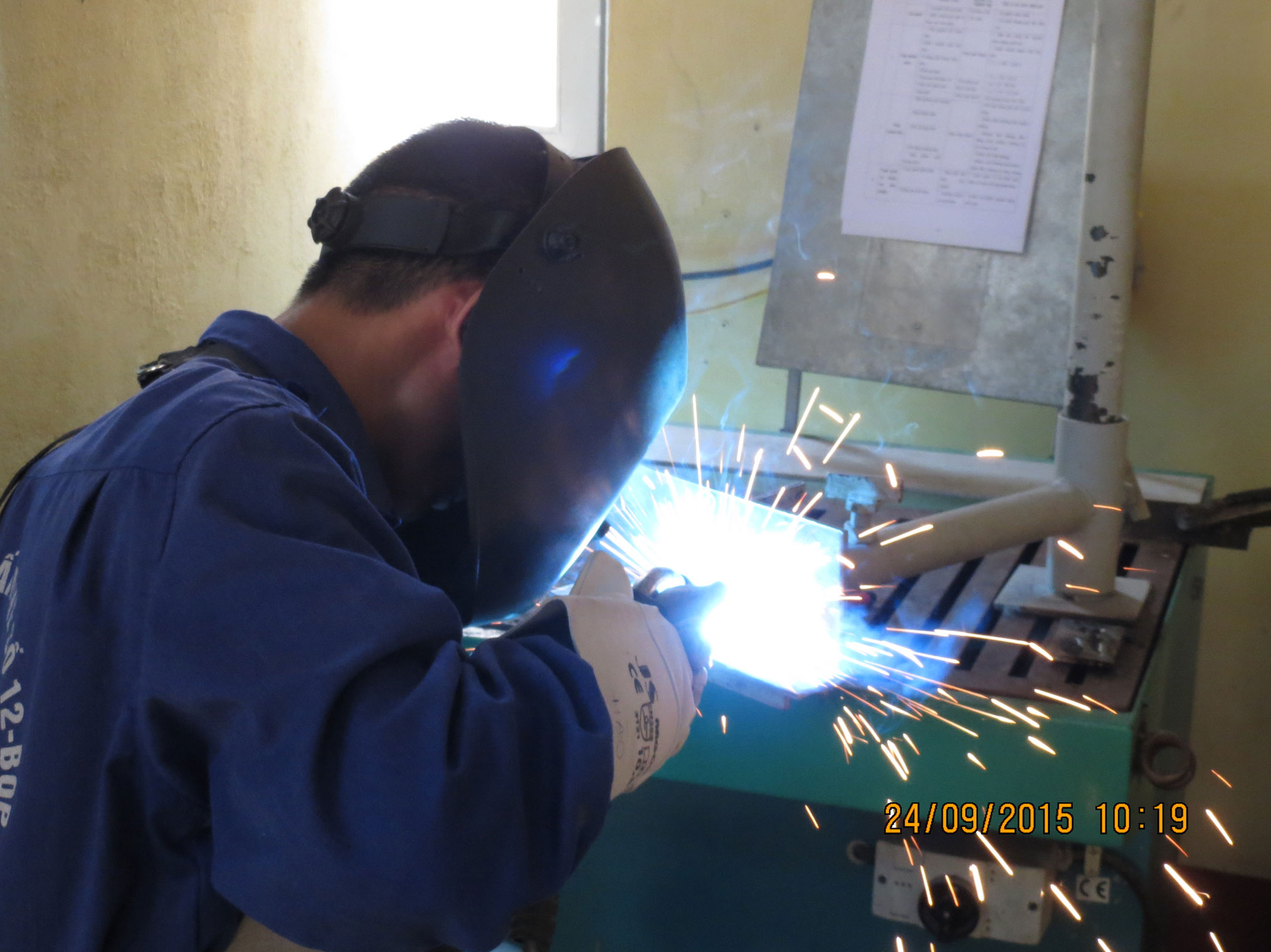 Practice session of Welding
